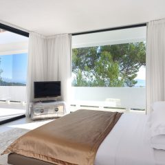 Bedroom with amazing view luxury villa in Ibiza