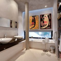 Art and design bathroom Ibiza
