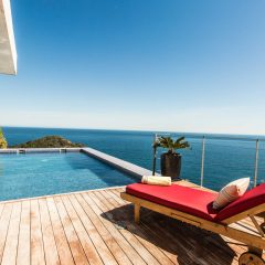 sun loungers and pool in Ibiza Villa Roca LLisa