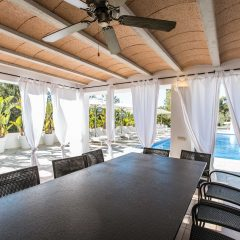 Outdoor dining area in San Rafael Ibiza Villa to rent