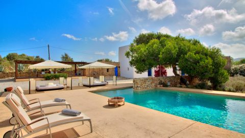 Pool Area Villa Ibiza Stadt