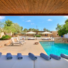 Amazing pool area Villa Ibiza Town rent