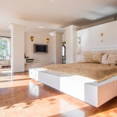 Master bedroom and Design Villas Ibiza to rent