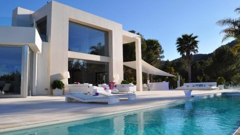 Amazing design luxury villa outdoor with pool in Ibiza San Josep