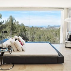 Bedroom with amazing view Design villa Ibiza rent