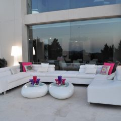 Design outdoor area villa in Ibza