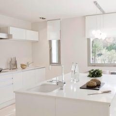 Kitchen in San Josep design Villa in Ibiza