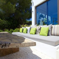 Outdoor chill area in Santa Gertrudis Luxury Villa Ibiza to rent