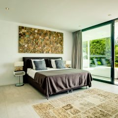 Modern Bedroom in luxury Finca Villa Ibiza Es Cubells 2017 to rent