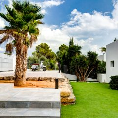 Outside View in magical Villa in Ibiza Es Cubells to rent