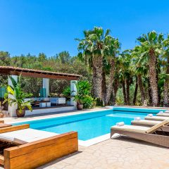 Nice outdoor area with pool rent Villa in Ibiza