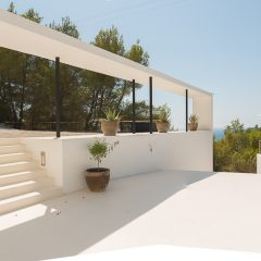 Outside View Cala Tarida Luxury Villa to rent