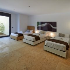 Bedroom with three single beds San Antonio Villa Ibiza