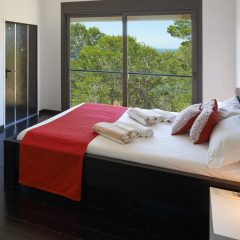 Bedroom with view in Ibiza Villa