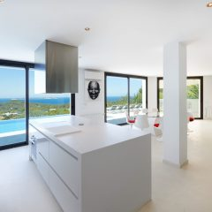 Huge windows fron in San Antonio Design Villa Ibiza