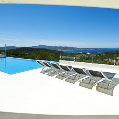 Beautiful pool with sea view Villa in San Antonio Ibiza