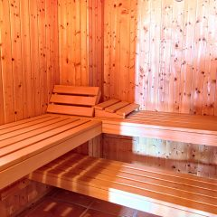 Sauna in Luxus Ibiza Villa