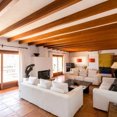 Living room and dining area Finca House Ibiza