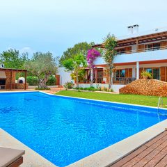 View on Ibiza finca with pool