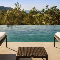 Infinity pool view Villa in Benirras Ibiza