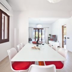 Dining area in villa in Ibiza