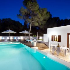 Pool at night in Ibiza