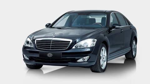Mercedes S-Class black Luxury Car with Driver Ibiza 2017 to rent