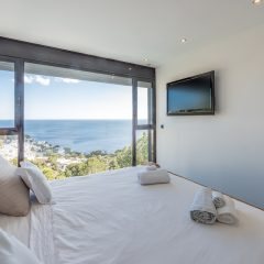 Luxury Bedroom with Sea View in Roca Llisa Ibiza Villa to rent